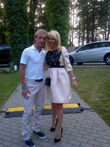 Рудковская и Плющенко назвали сына Александром