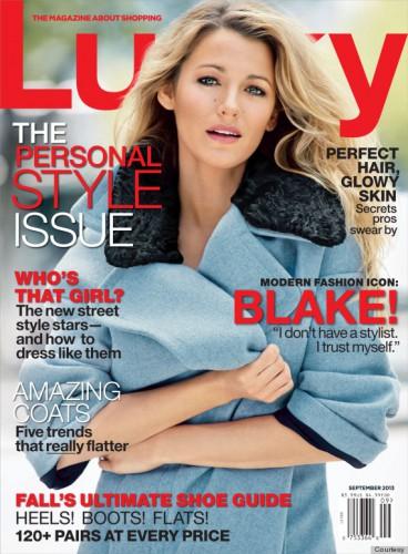 Актриса Блейк Лайвли на обложке журнала Lucky, сентябрь 2013