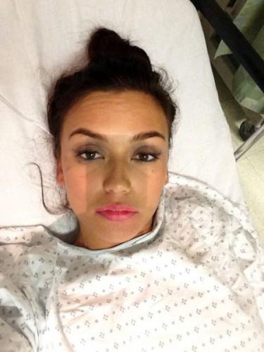 Ольга Серябкина попала в больницу