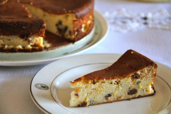 Рецепт                  Пирог из творожного теста с изюмом
