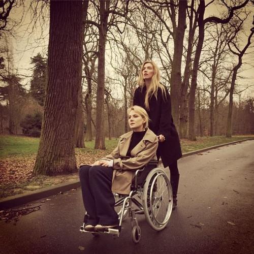 Рената Литвинова на съемках фильма в Париже