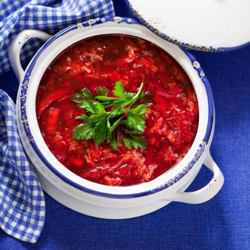 Борщ с томатным пюре
