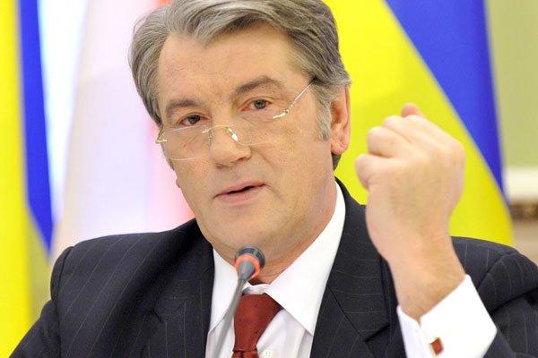 Лидер партии Наша Україна Виктор Ющенко