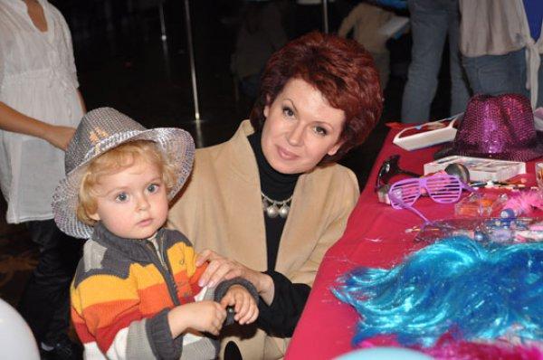 Алла Мазур с сыном Темой