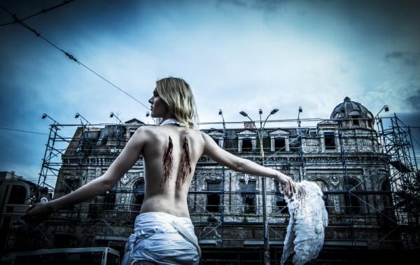 Борис Апрель на съемках в Киеве