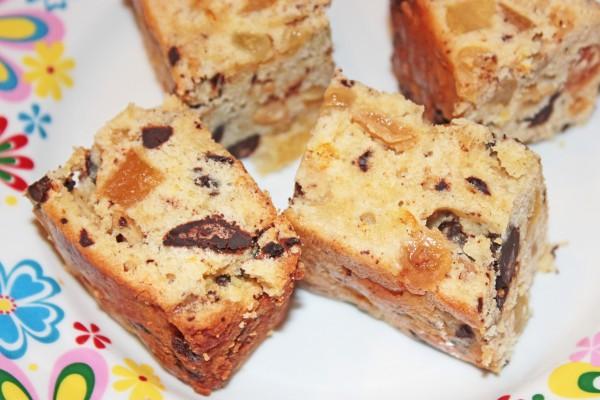 Рецепт                  Рождественский кекс с фруктами и шоколадом