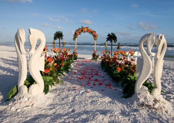 Место проведения свадьбы: пляж