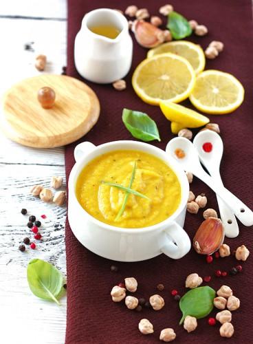 Рецепт                  Тыквенный суп-пюре с горохом нут