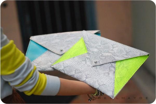 Выкройка клатча конверта - Выкройка