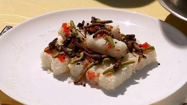 Суши с червями