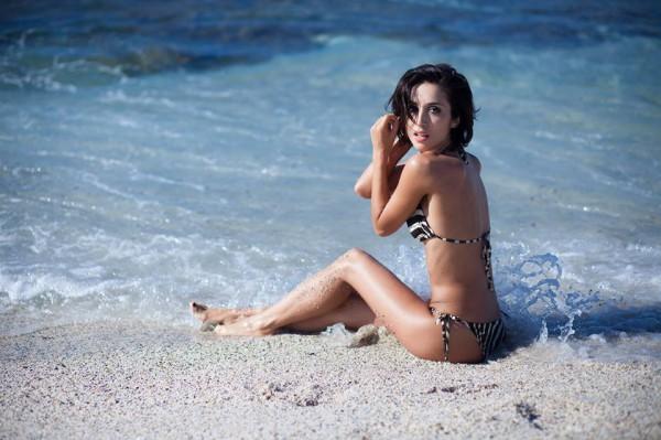 Анна Завальская на море
