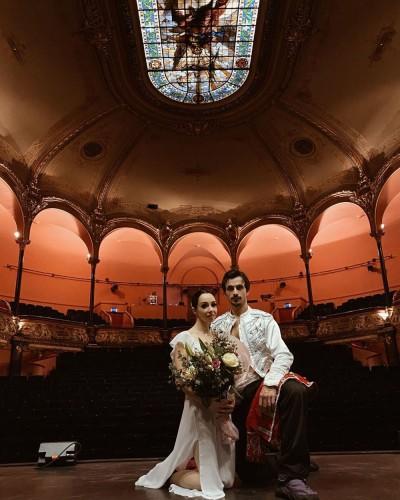 Екатерина Кухар и Александр Стоянов во Франции