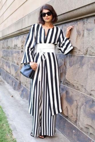 Вертикальные полоски в одежде