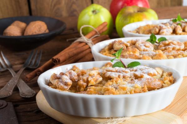 Осенний яблочный пирог со штрейзелем