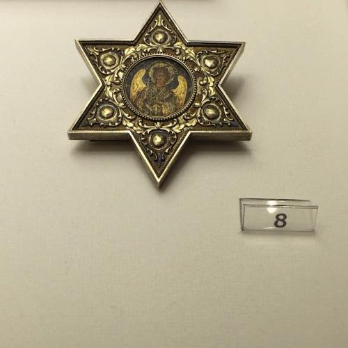Икона Иисуса в звезде Давида, которая находится в музее Фаберже, Санкт-Петербург