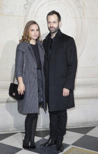 Голливудская актриса Натали Портман со своим мужем Бенжамином Мильпье