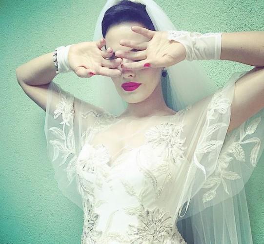 Астафьева в образе невесты