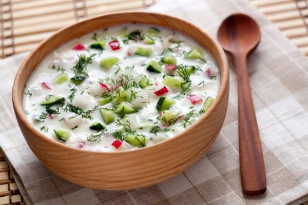 рецепт холодного супа из огурцов
