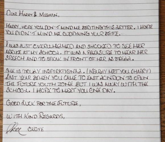 Письмо принцу Гарри