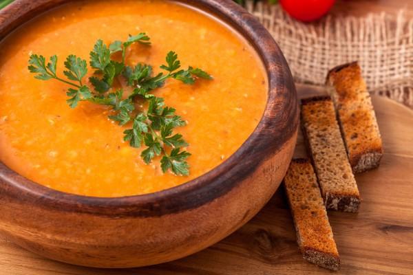 Суп из чечевицы и моркови