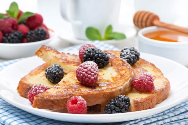 Сладкие гренки на завтрак
