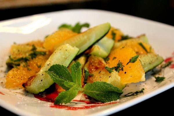 Рецепт                  Салат из апельсинов и цуккини