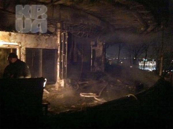 Ресторан Аура после пожара