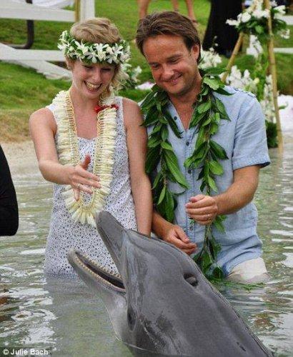 Свадьба на Гавайях в обществе дельфина