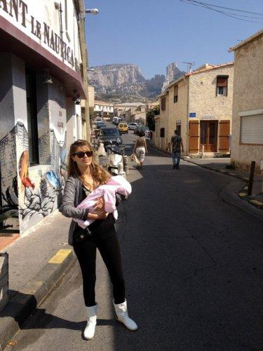 Вика Боня с дочкой Анджелиной