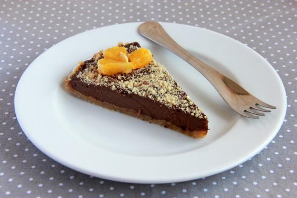 Торт без выпечки с апельсином и шоколадом
