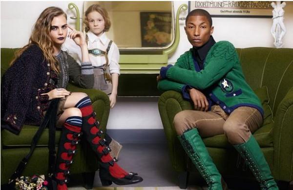 Кара Делевинь и Фаррелл Уильямс сыграли семью в рекламе Chanel