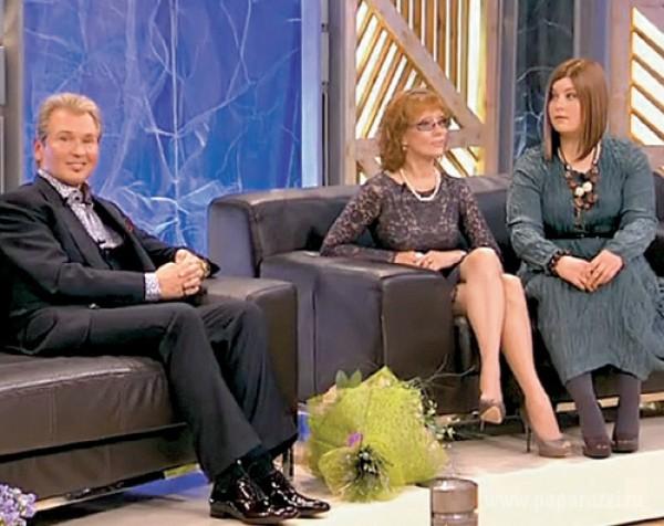 Александр Малинин с экс-супругой Ольгой Зарубиной и дочкой Кирой