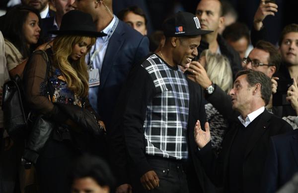 Бейонсе, Jay Z и Николя Саркози