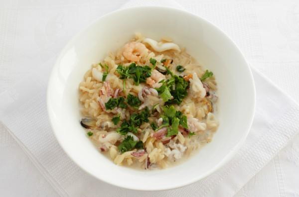 Рис с морепродуктами