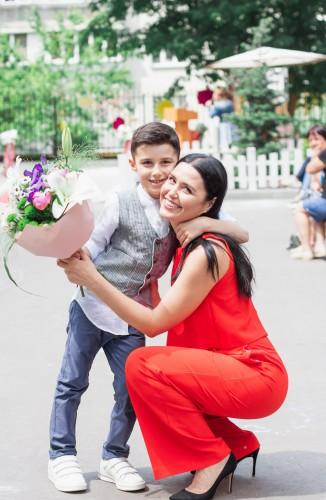 Людмила Барбир с сыном Тарасом