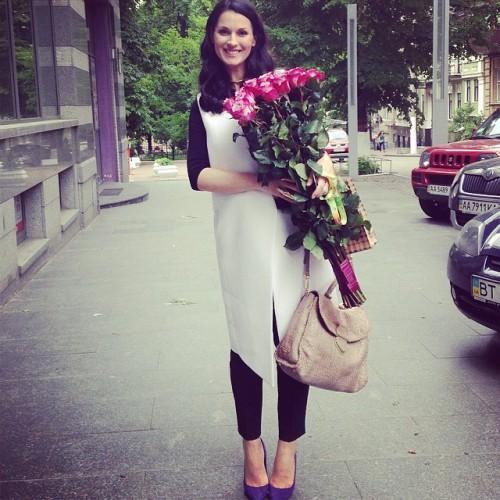 Маша Ефросинина поддерживает стройные формы во время беременности