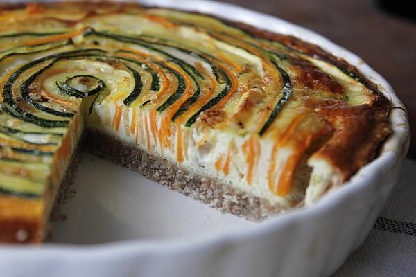 Французский киш с овощами