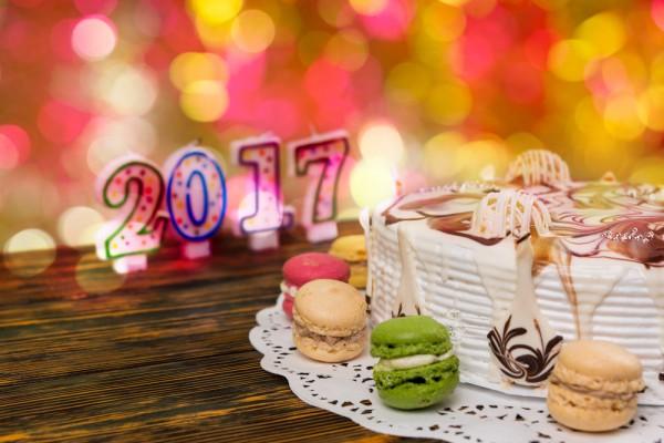 Торт на Новый год 2017