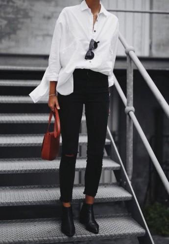 Oversize белая рубашка
