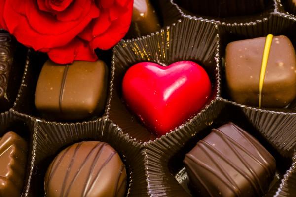 Конфеты на День Валентина в виде сердечек