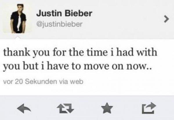 Неоднозначное сообщение Джастина Бибера, которое в скором времени было удалено