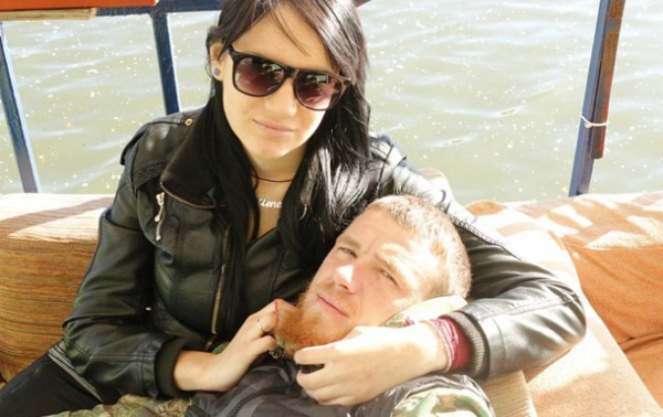Елена с мужем Моторолой