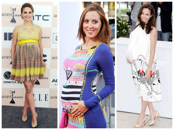 Звезды в платьях беременных