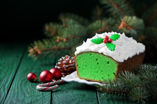 Рождественский кекс с матча