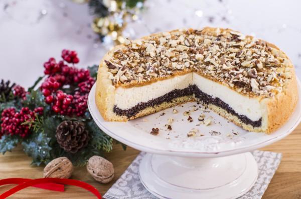 Маковой-творожный пирог на Рождество