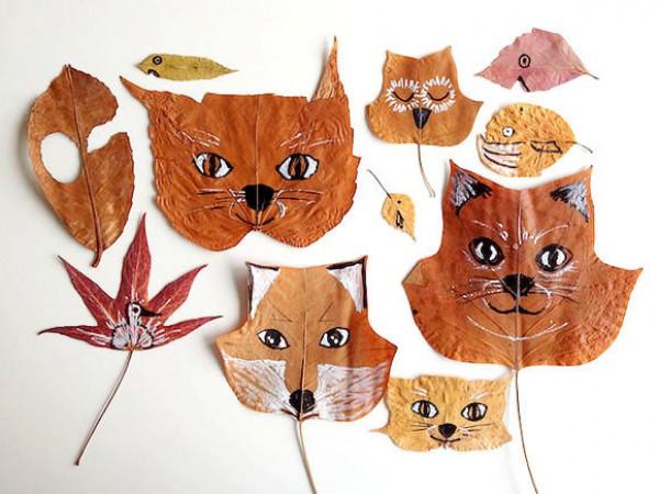 Букет осенних листьев из бумаги