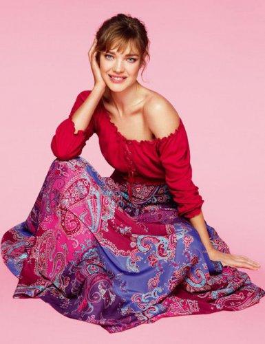 Наталья Водянова в lookbook бренда Etam весна-лето 2012
