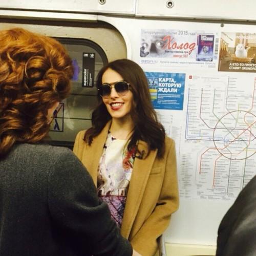 Сати Казанова в метро