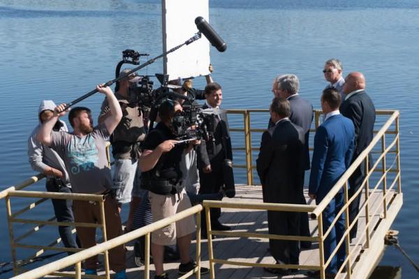 ВКиеве завершаются съемки полнометражного фильма «Слуга народа 2»