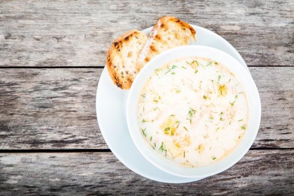 Весенний суп с рыбой